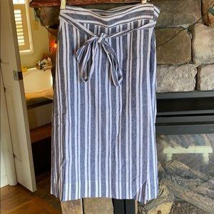 Gap Wrap Around Linen Midi Skirt with Front Tie